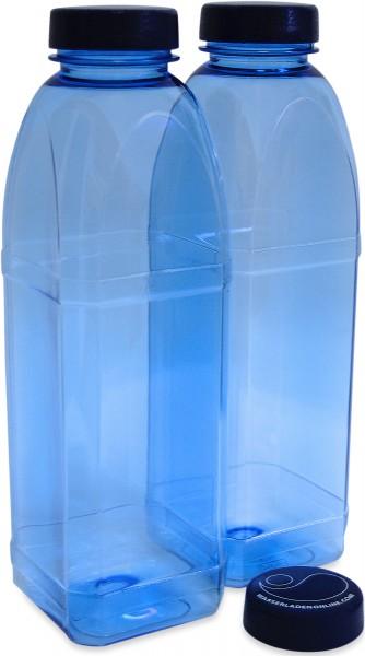 Trinkflasche 2 x 1 L. Achteckflasche