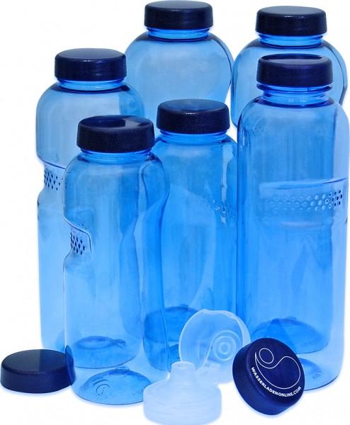 Water Bottle Set 2 x 0.5l, 2 x 0.75l, 2 x 1,0 liter