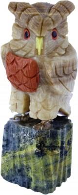 Vogel Gravur Eule 8-10 cm, Peru