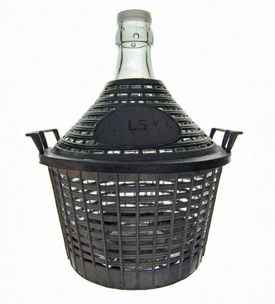 Glasballon im Kunststoffkorb, 5 Liter