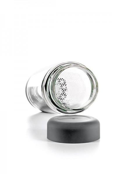 inu! CRYSTAL Glasflasche | Lava Grey