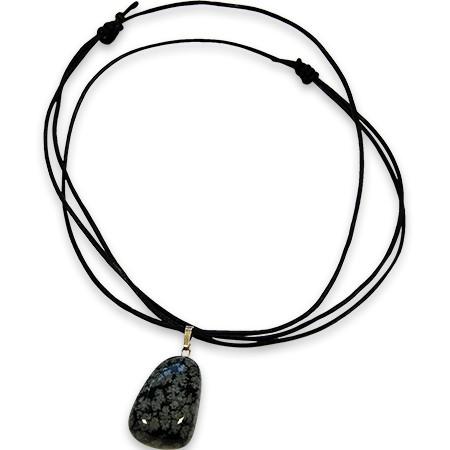Schneeflocken-Obsidian Anhänger, jeder Stein ein unikat