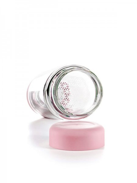inu! CRYSTAL Glasflasche   Blossom Rose