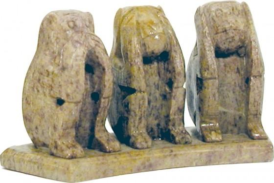 Affen-Trio 5 cm, Unikat