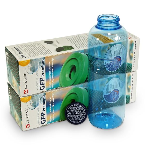 2 x Carbonit GFP Premium + Bottle