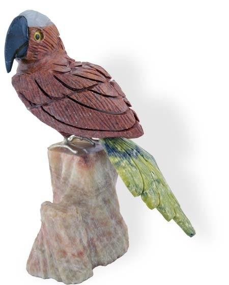 Vogel Gravur Papagei 7-10 cm