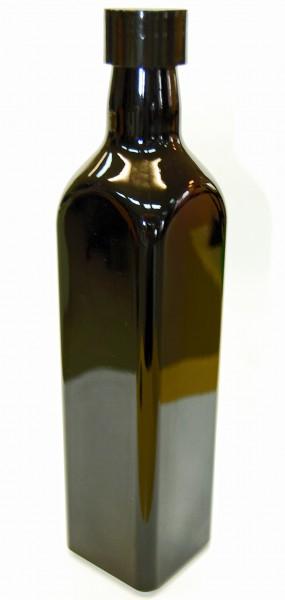 Violettglasflasche rechteckig 0,5 L