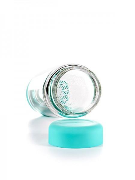 inu! CRYSTAL Glasflasche   Ocean Blue
