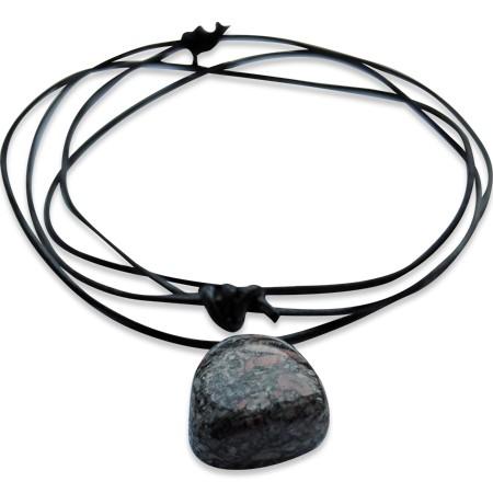 Turitella Jaspis Anhänger, jeder Stein ein unikat