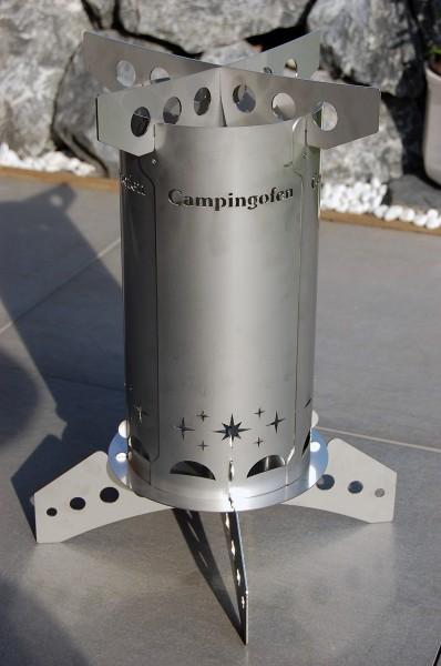 Design Camping Ofen mit Kochplatte