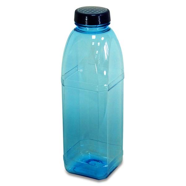 Trinkflasche 1 L. Achteckflasche, Blume des Lebens