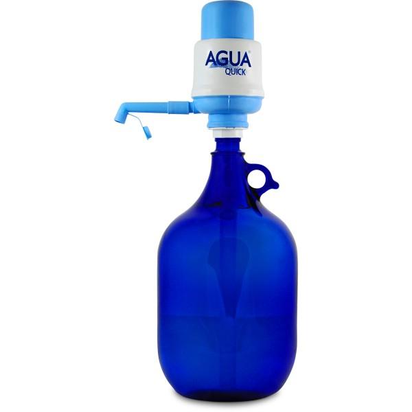 Glasflasche 5 L. mit Wasserpumpe (weiß) Standard
