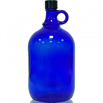 Glasflasche 2 Liter in blau
