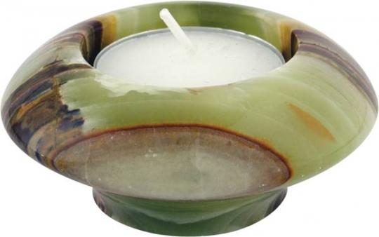 Teelichter 7.5 cm, Onyx Marmor, Unikat