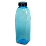 Trinkflasche 1 L. Achteckflasche, Blume
