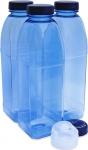 Trinkflasche 3 x 1 L. Achteckflasche