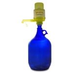 Glasflasche 5 L. mit Wasserpumpe gelb