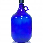 Glasflasche 5 Liter in blau