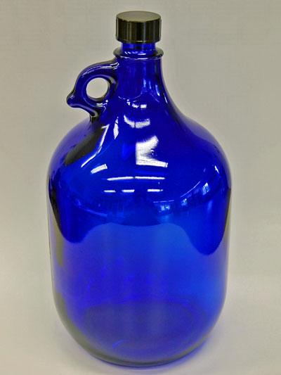 glasflasche 5 liter in blau. Black Bedroom Furniture Sets. Home Design Ideas