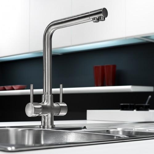 3 wege wasserhahn hugo chrom produkte von carbonit westaflex katadyn. Black Bedroom Furniture Sets. Home Design Ideas