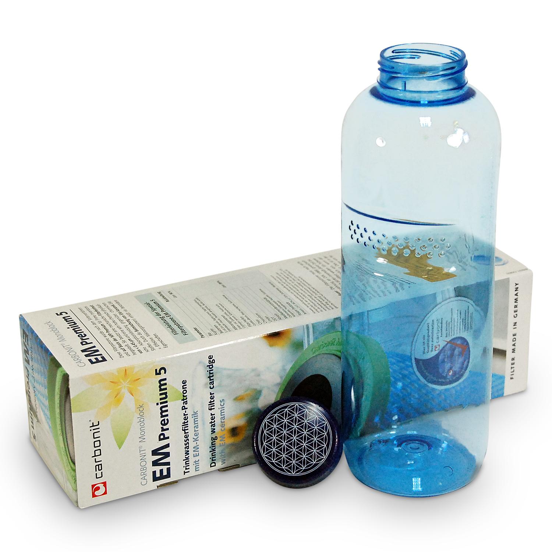 2x Filterpatrone EM Premium 5 Carbonit /& Tritan Trinkflasche 0,5l