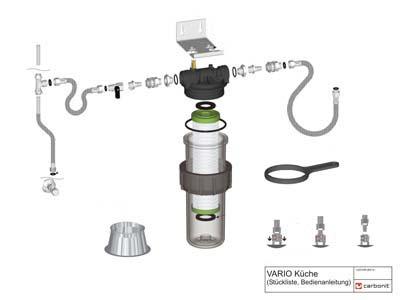 carbonit vario cuisine filtre eau filtres a eau potable. Black Bedroom Furniture Sets. Home Design Ideas